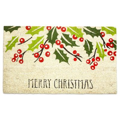 ju0026m home fashions 18inch x 30inch merry christmas door mat