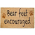 "J&M Home Fashions 18-Inch x 30-Inch ""Bear Feet"" Door Mat in Brown"