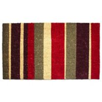J&M Home Fashions 30-Inch x 18-Inch Multi Stripe Doormat