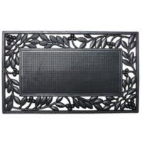 J&M Home Fashions 18-Inch x 30-Inch Leaf Border Door Mat