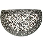 J&M Home Fashions 24-Inch x 35-Inch Welcome Pebbles Half-Round Door Mat