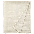 Brielle Yosemite Cotton Queen Blanket in Ivory