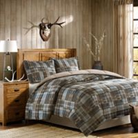 Woolrich White River Twin Comforter Set in Brown