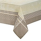 Waterford® Linens Wyman 70-Inch x 104-Inch Oblong Tablecloth in Taupe