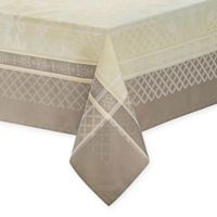 Waterford® Linens Wyman 90-Inch Square Tablecloth in Taupe