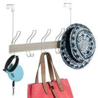 InterDesign® RealWood 10 Hook Over-the-Door Rack in Gray/Satin