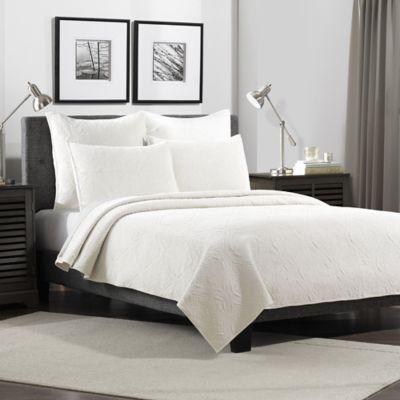 Flat Iron Lynden Velvet Standard Pillow Sham in White