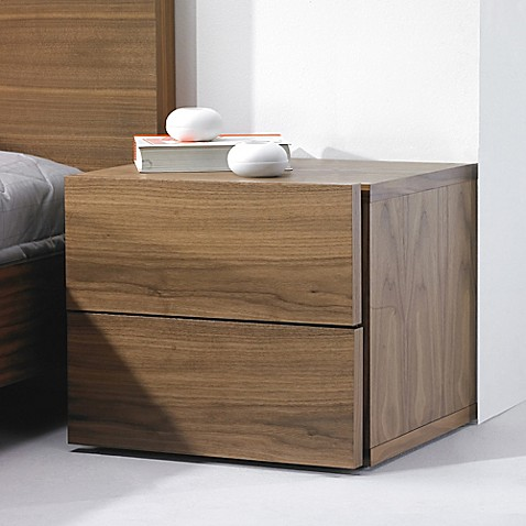 image of Tema Furniture Inc. Float Wooden 2-Drawer Nightstand