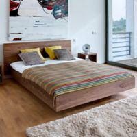 Tema Furniture Inc. Float King Bed with Mattress Support in Walnut