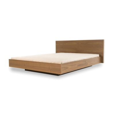 tema furniture inc float queen bed with mattress support in walnut - Buy Queen Bed Frame
