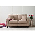 Serta RTA Copenhagen Fabric Loveseat in Marzipan Tan