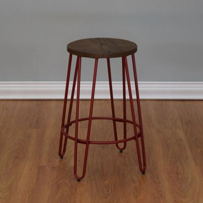The Quinn™ Round Wood Top Backless Counter Stool in Matte Red & Buy Red Wood Stools from Bed Bath u0026 Beyond islam-shia.org