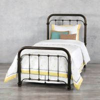 Braden Aged Iron Twin Bed