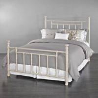 Blake Iron Queen Bed in Ivory