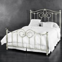 Eldridge Iron Twin Bed in Distressed White
