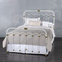 Hillsboro Iron Queen Bed in Vintage White