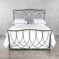 Wesley Allen Marin Iron Queen Bed Frame in Aged Steel