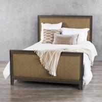 Wesley Allen Avery Iron Complete Queen Bed Frame in Nickel