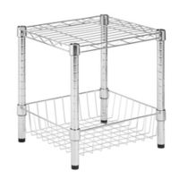 Honey-Can-Do® Stackable Urban Shelf with Basket in Chrome