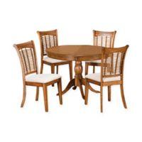 Hillsdale Bayberry 5-Piece 44-Inch Round Dining Set in Oak