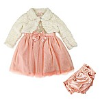 Nannette Baby® Size 24M 2-Piece Sparkle Jacket and Dress Set in Pink