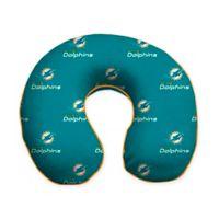 NFL Miami Dolphins Memory Foam U-Shaped Neck Travel Pillow