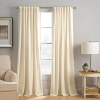 Abbeville 95-Inch Rod Pocket/Back Tab Window Curtain Panel in Ivory