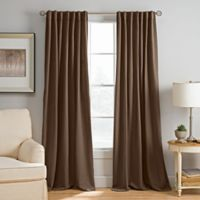 Abbeville 84-Inch Rod Pocket/Back Tab Window Curtain Panel in Mocha