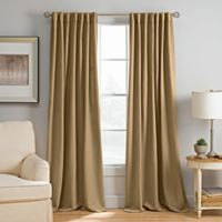 Abbeville 84-Inch Rod Pocket/Back Tab Window Curtain Panel in Caramel