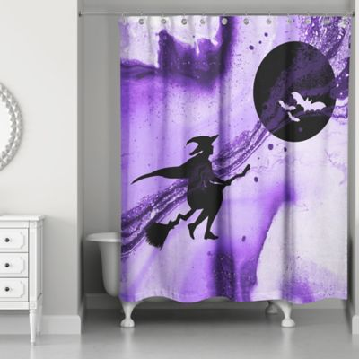 black and purple shower curtain. Witch Shower Curtain In Purple Black Buy Curtains From Bed Bath  Beyond