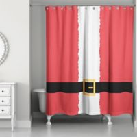 Santa' Suit Shower Curtain in Red/White