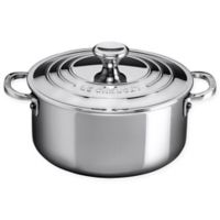 Le Creuset® Stainless Steel 3.5 qt. Shallow Casserole with Lid