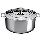 Le Creuset® Stainless Steel 5.5 qt. Shallow Casserole with Lid