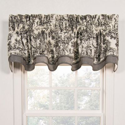 Buy Black Window Valances From Bed Bath Amp Beyond