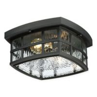 Quoizel® Stonington Flush Mount Ceiling Lantern in Black