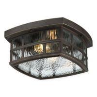 Quoizel® Stonington Flush Mount Ceiling Lantern in Bronze
