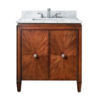 Avanity Brentwood 31-Inch Single Vanity in New Walnut with Carrera White Marble Top