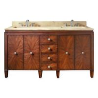 Avanity Brentwood 61-Inch Double Vanity in New Walnut with Galala Beige Marble Top