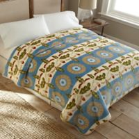 Floral Stripe Luxury Oversized Queen Blanket