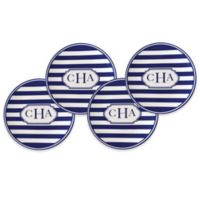 Caskata Beach Towel Stripe Canapé Plates (Set of 4)