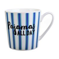 "Formations ""Pajamas All Day"" Striped Mug"