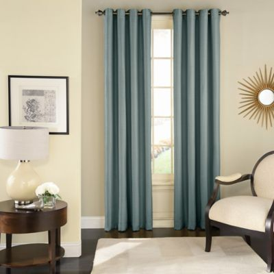 Solar Shield Wilder 63 Inch Grommet Room Darkening Window Curtain Panel in  Blue. Buy Room Darkening Curtains from Bed Bath   Beyond