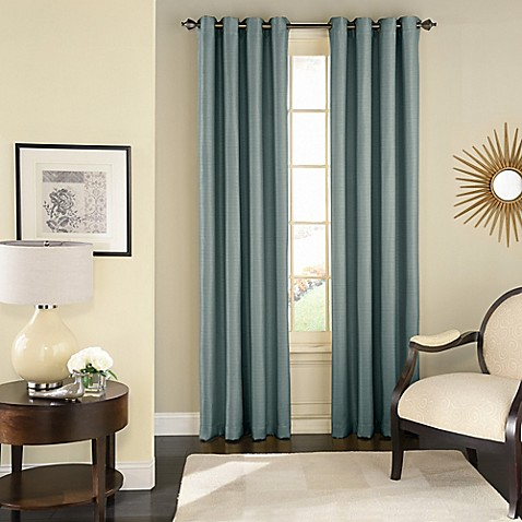 ... Bed Bath And Beyond Living Room Curtains By Solar Shield Wilder Grommet  Room Darkening Window Curtain ...