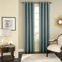 Solar Shield Wilder 84 Inch Grommet Room Darkening Window Curtain Panel In Blue