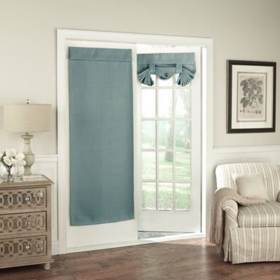 Merveilleux Solar Shield Wilder 68 Inch Room Darkening Door Curtain Panel In Blue