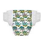 Honest 44-Pack Size 1 Diapers in Elephant Pattern