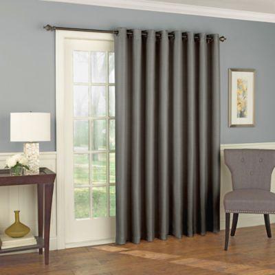 Solar Shield Wilder 84 Inch Grommet Room Darkening Patio Door Curtain Panel  In Grey