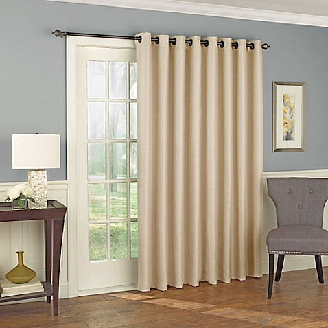 solar shield wilder 84 inch grommet room darkening patio door curtain panel bed bath beyond. Black Bedroom Furniture Sets. Home Design Ideas