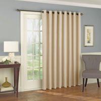 Solar Shield Wilder 84-Inch Grommet Room Darkening Patio Door Curtain Panel in Latte