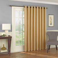 Solar Shield Wilder 84-Inch Grommet Room Darkening Patio Door Curtain Panel in Wheat